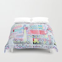 las vegas Duvet Covers featuring Vegas by Jelly Chen