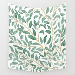 Green Leaf Pattern Wall Tapestry