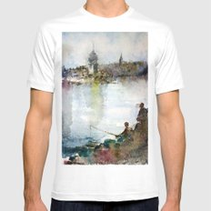 Fishing Mens Fitted Tee White MEDIUM
