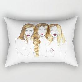 Three blondes Rectangular Pillow