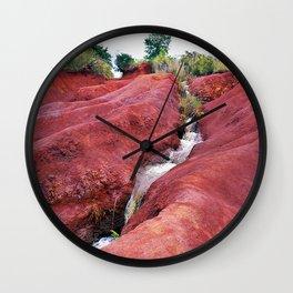 Hawaii - Red soil with creek Wall Clock