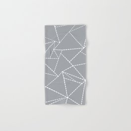 Abstract Dotted Lines Grey Hand & Bath Towel