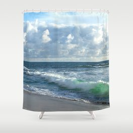 Sea Green Shower Curtain