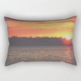 Sunset Over The Lake Rectangular Pillow