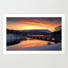 Dawn over Ashopton Art Print