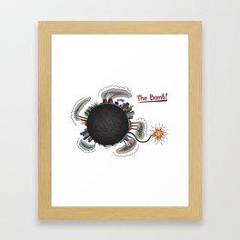 Earth is in danger! Framed Art Print