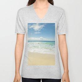 kapalua beach maui hawaii Unisex V-Neck