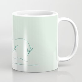 Sleeping nude with leaves and flowers. Coffee Mug