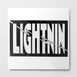 Lightnin Metal Print