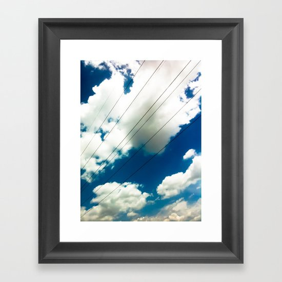 Lines and The Blue Sky Framed Art Print