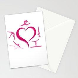 gymnastics aparatus love on white Stationery Cards