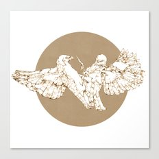 In which birds fight in a different colour Canvas Print