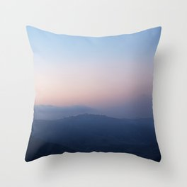 Blue Hills at Sunset Throw Pillow