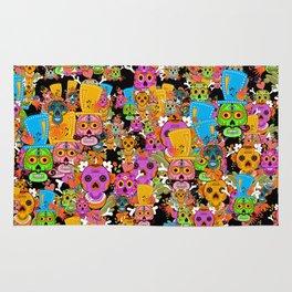 Colorful Sugar Skulls Pattern Rug