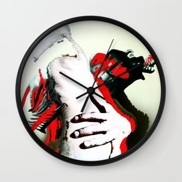 Elephant Naked Man Wall Clock
