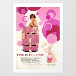 Pink Is For Girls Art Print