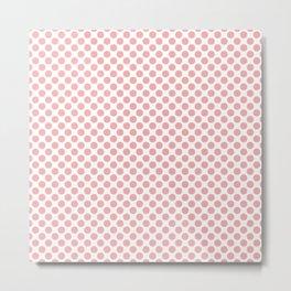 Large Blush Pink Spots on White Metal Print