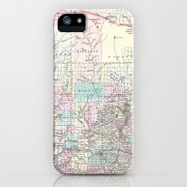 Vintage Map of Wisconsin (1855) iPhone Case
