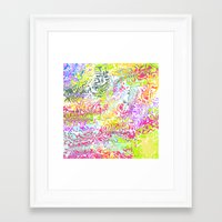 confetti Framed Art Prints featuring Confetti by Abstract Designs