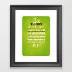 SIX THINGS Framed Art Print