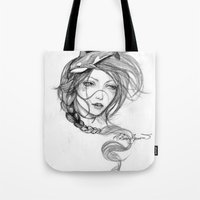 orca Tote Bags featuring Orca by Mortimer Sparrow