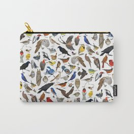 Bird Pattern Carry-All Pouch