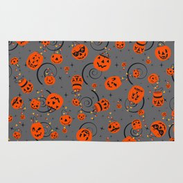 Halloween Magic-Gray Rug
