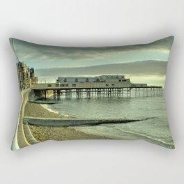 Aberystwyth pier and beach Rectangular Pillow