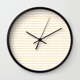 Yellow Scallop Wall Clock