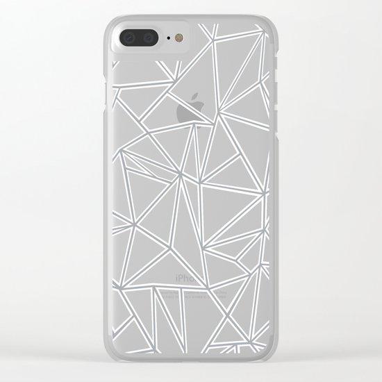 Ab Blocks Grey #2 Clear iPhone Case