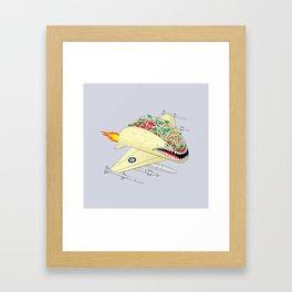 Taco Fighter Jet Framed Art Print