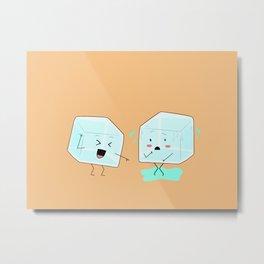 Ice cube problems Metal Print