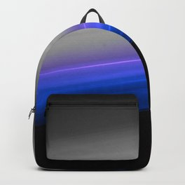 Blue Purple Grey Black Ombre Backpack