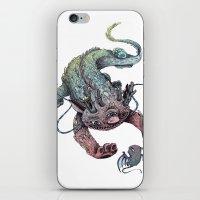 dragon iPhone & iPod Skins featuring dragon by luiza kwiatkowska