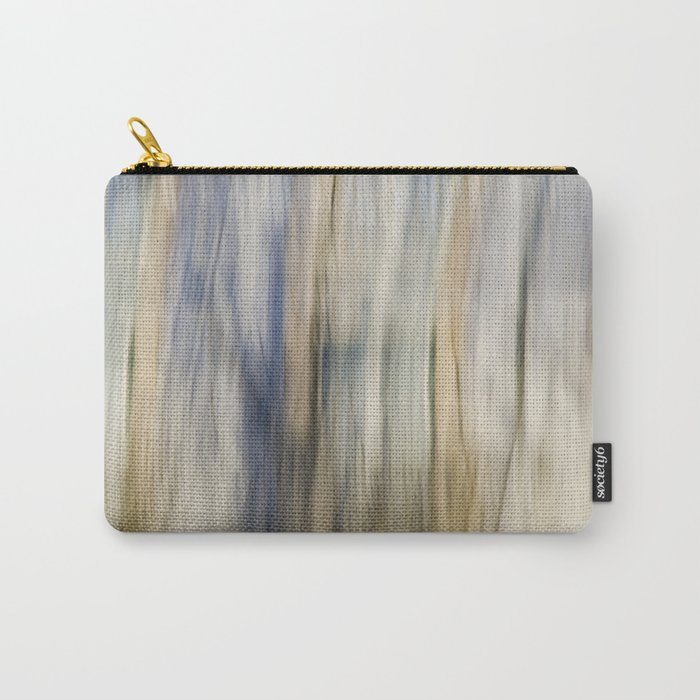 Soft Blue and Gold Abstract Carry-All Pouch