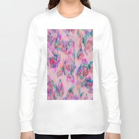 ikat Long Sleeve T-shirts featuring Ikat Glitch by sarahroseprint