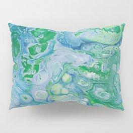 Blue and Green Pillow Sham