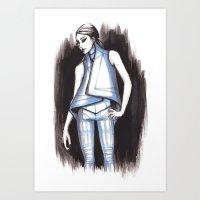 Gareth Pugh Spring 2011 Fashion Illustration Art Print