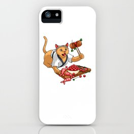 Cow Walking On Her Udder - Cat Sushi iPhone Case