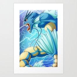 Gyarados Art Print