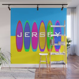 Jersey Surfboards on the Beach Wall Mural
