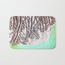 Glitch in the Forest Bath Mat