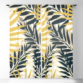 Palm Leaves Blackout Curtain