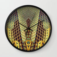 art deco Wall Clocks featuring Art Deco by Sabina Miklowitz