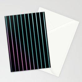Rainbow . Striped rainbow pattern . Black background pattern Stationery Cards
