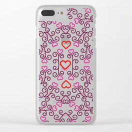 Take Heart Clear iPhone Case
