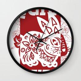 Rabbit Chinese Zodiac Sign Horoscope Animal Wall Clock