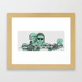 Riding the Anarchy Framed Art Print