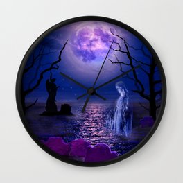 graveyard dreamscape Wall Clock