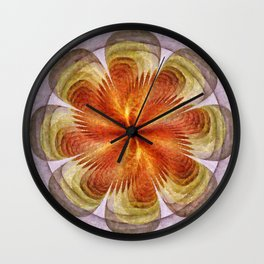 Senores Au Naturel Flower  ID:16165-061704-49220 Wall Clock